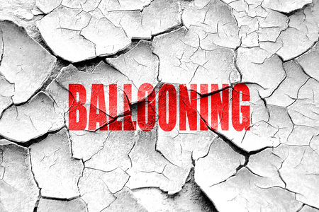 ballooning: Grunge cracked ballooning sign background with some soft  smooth lines
