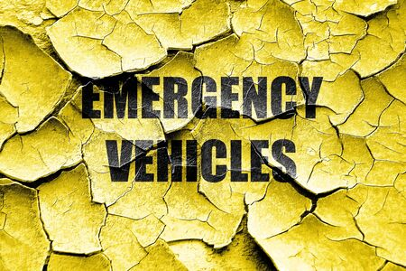 manners: Grunge cracked Emergency services sign with yellow and black colors Stock Photo