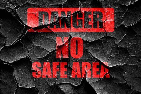 hazardous area sign: Grunge cracked apocalypse danger background on a grunge background