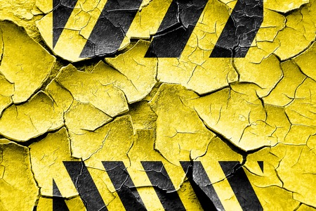 hazard stripes: Grunge cracked Black and yellow hazard stripes with some soft highlights Stock Photo
