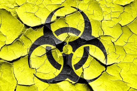bio hazard: Grunge cracked Bio hazard sign on a grunge background Stock Photo