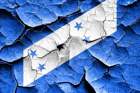 bandera honduras: Grunge quebró la bandera de Honduras con algunos toques de luz y suaves pliegues