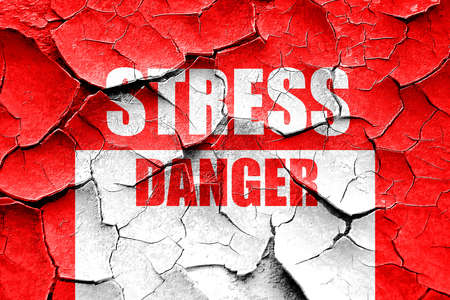 traumatic: Grunge cracked Stress sign background with some soft flowing lines