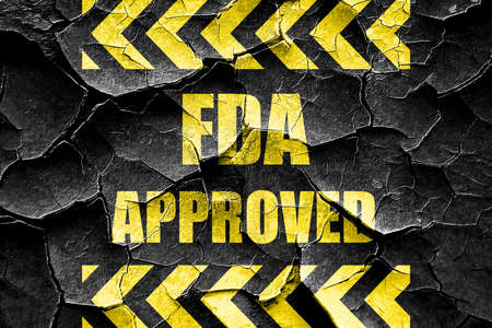 endorse: Grunge cracked FDA approved background with some smooth lines