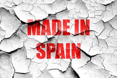 made in spain: Grunge cracked Made in spain with some soft smooth lines