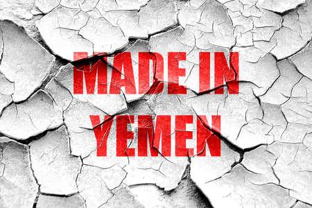 yemen: Grunge cracked Made in yemen with some soft smooth lines