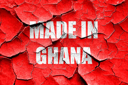 ghanese: Grunge cracked Made in ghana with some soft smooth lines