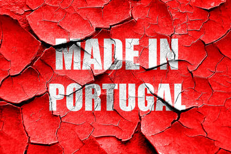 made in portugal: Grunge cracked Made in portugal with some soft smooth lines