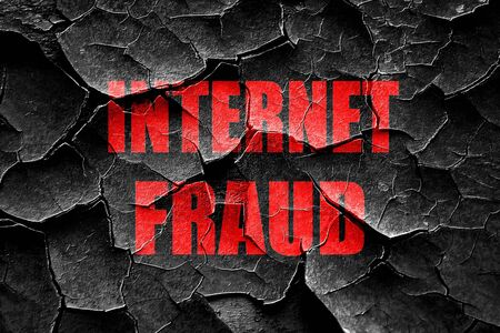 scammer: Grunge cracked Internet fraud background with some smooth lines