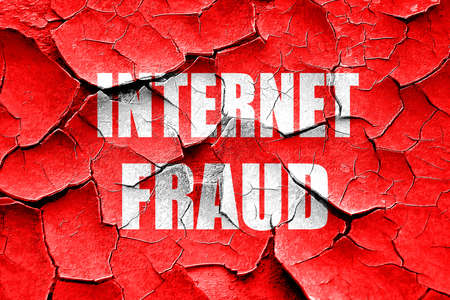 internet fraud: Grunge cracked Internet fraud background with some smooth lines