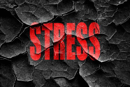 emotional pain: Grunge cracked Stress sign background with some soft flowing lines