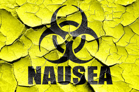 nausea: Grunge cracked Nausea concept background with some soft smooth lines