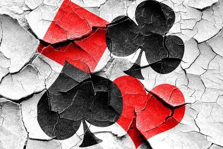 Grunge fondo agrietado del juego de cartas con unas líneas suaves suaves