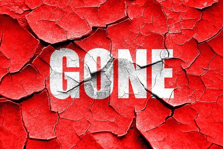 gone: Grunge cracked gone sign background with some soft smooth lines Stock Photo