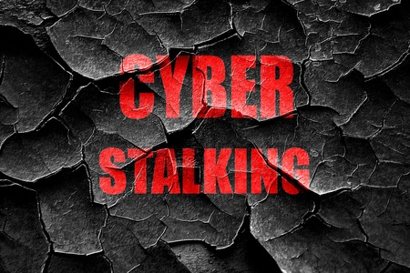 stalking: Grunge cracked Cyber stalking background with some smooth lines Stock Photo