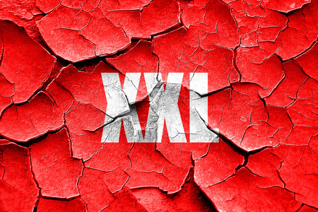 big size: Grunge cracked xxl sign background with some soft smooth lines Stock Photo