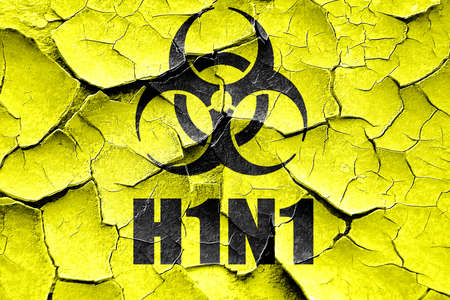 h1n1 vaccine: Grunge cracked h1n1 virus concept background with some soft smooth lines