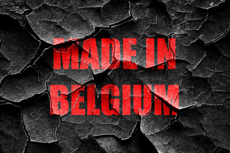 made in belgium: Grunge cracked Made in belgium with some soft smooth lines