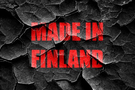 made in finland: Grunge cracked Made in finland with some soft smooth lines