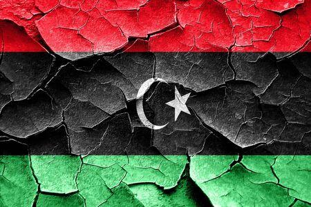 cracks: Grunge Libya flag with some cracks and vintage look Stock Photo