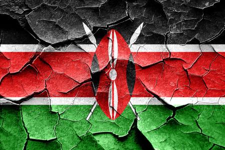 broken unity: Grunge kenya flag with some cracks and vintage look Stock Photo