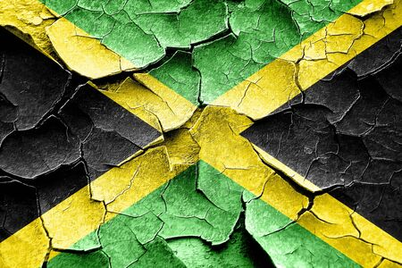 vintage look: Grunge Jamaica flag with some cracks and vintage look Stock Photo