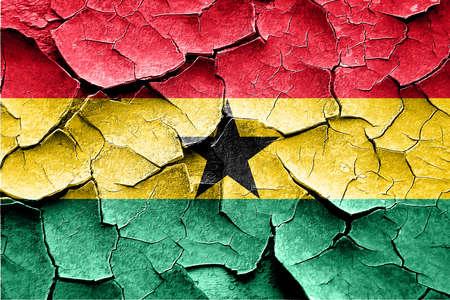 vintage look: Grunge Ghana flag with some cracks and vintage look