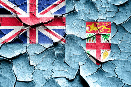 vintage look: Grunge Fiji flag with some cracks and vintage look Stock Photo