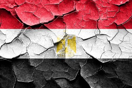 egypt flag: Grunge Egypt flag with some cracks and vintage look