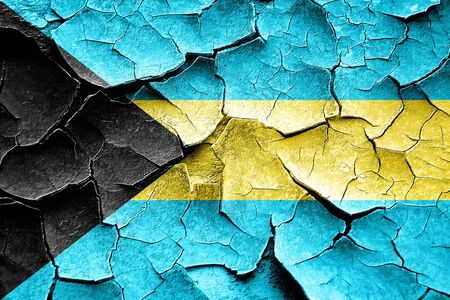 broken unity: Grunge Bahamas flag with some cracks and vintage look