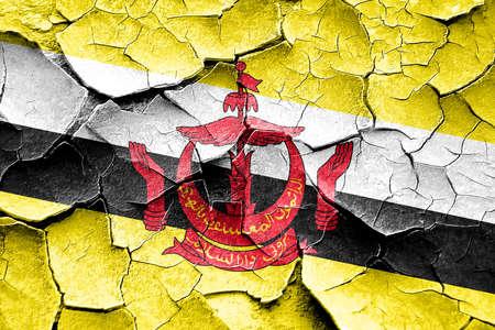 vintage look: Grunge Brunei flag with some cracks and vintage look