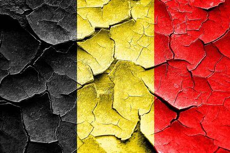 broken unity: Grunge Belgium flag with some cracks and vintage look