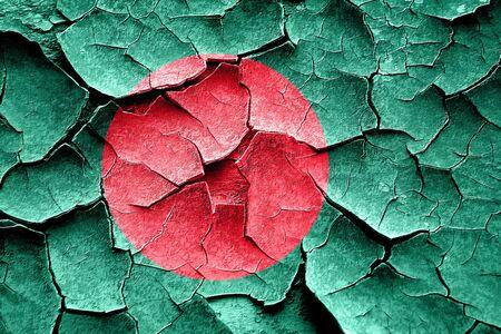 cracks: Grunge Bangladesh flag with some cracks and vintage look