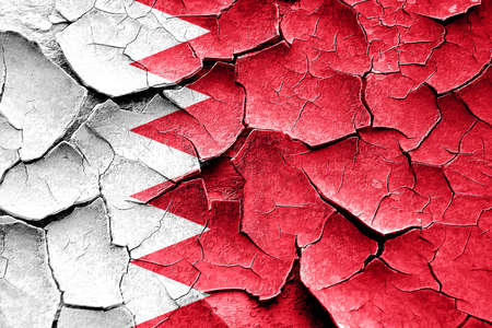 vintage look: Grunge Bahrain flag with some cracks and vintage look Stock Photo