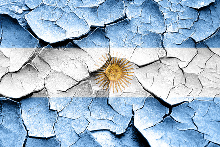 vintage look: Grunge Argentina flag with some cracks and vintage look Stock Photo