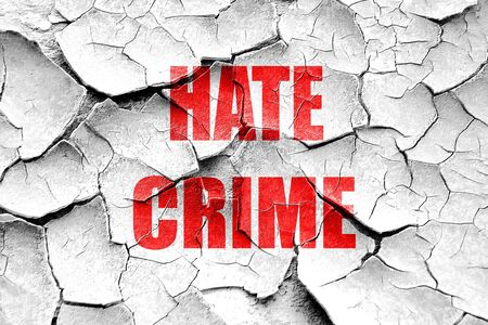 hate: Grunge cracked Hate crime background with some smooth lines