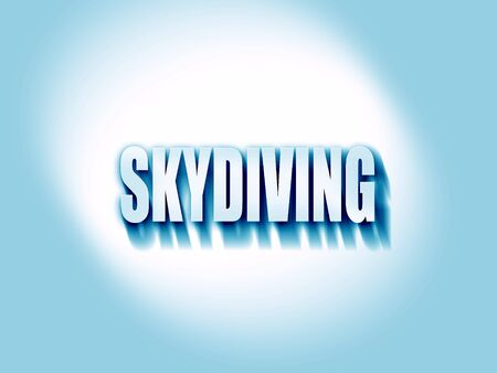skydiving: skydiving sign background with some soft smooth lines