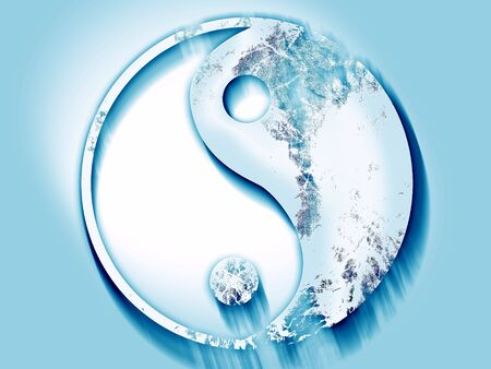 yinyang: Ying yang symbol with some soft smooth lines