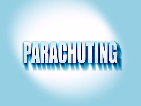 parachuting: parachuting sign background with some soft smooth lines