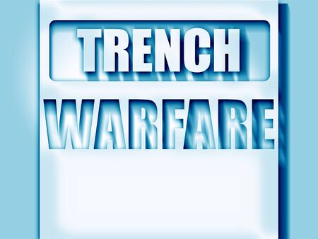 trench: trench warfare sign with some soft lines Stock Photo