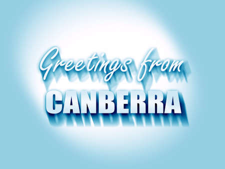 canberra: Greetings from canberra with some smooth lines Stock Photo