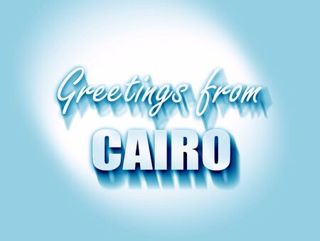 cairo: Greetings from cairo with some smooth lines Stock Photo