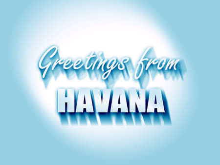 havana: Greetings from havana with some smooth lines