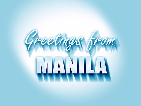 manila: Greetings from manila with some smooth lines