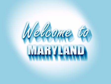 maryland: Welcome to maryland with some smooth lines Stock Photo