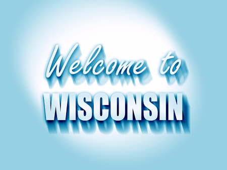 wisconsin: Welcome to wisconsin with some smooth lines Stock Photo