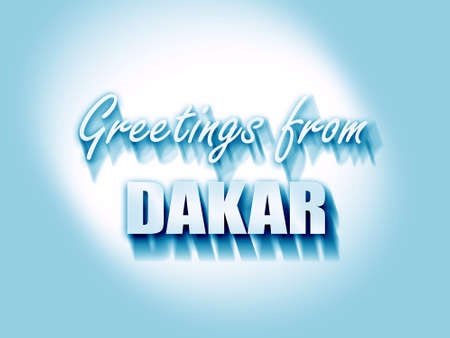 dakar: Greetings from dakar with some smooth lines Stock Photo