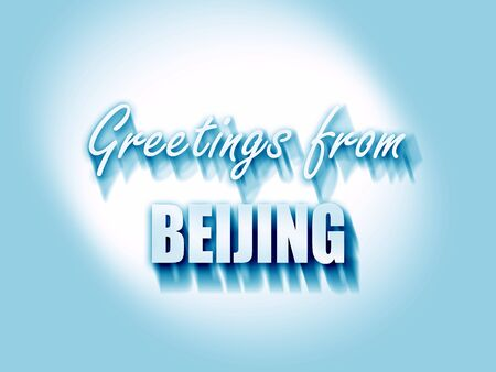 beijing: Greetings from beijing with some smooth lines Stock Photo