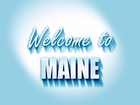 maine: Welcome to maine with some smooth lines Stock Photo