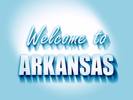arkansas: Welcome to arkansas with some smooth lines Stock Photo